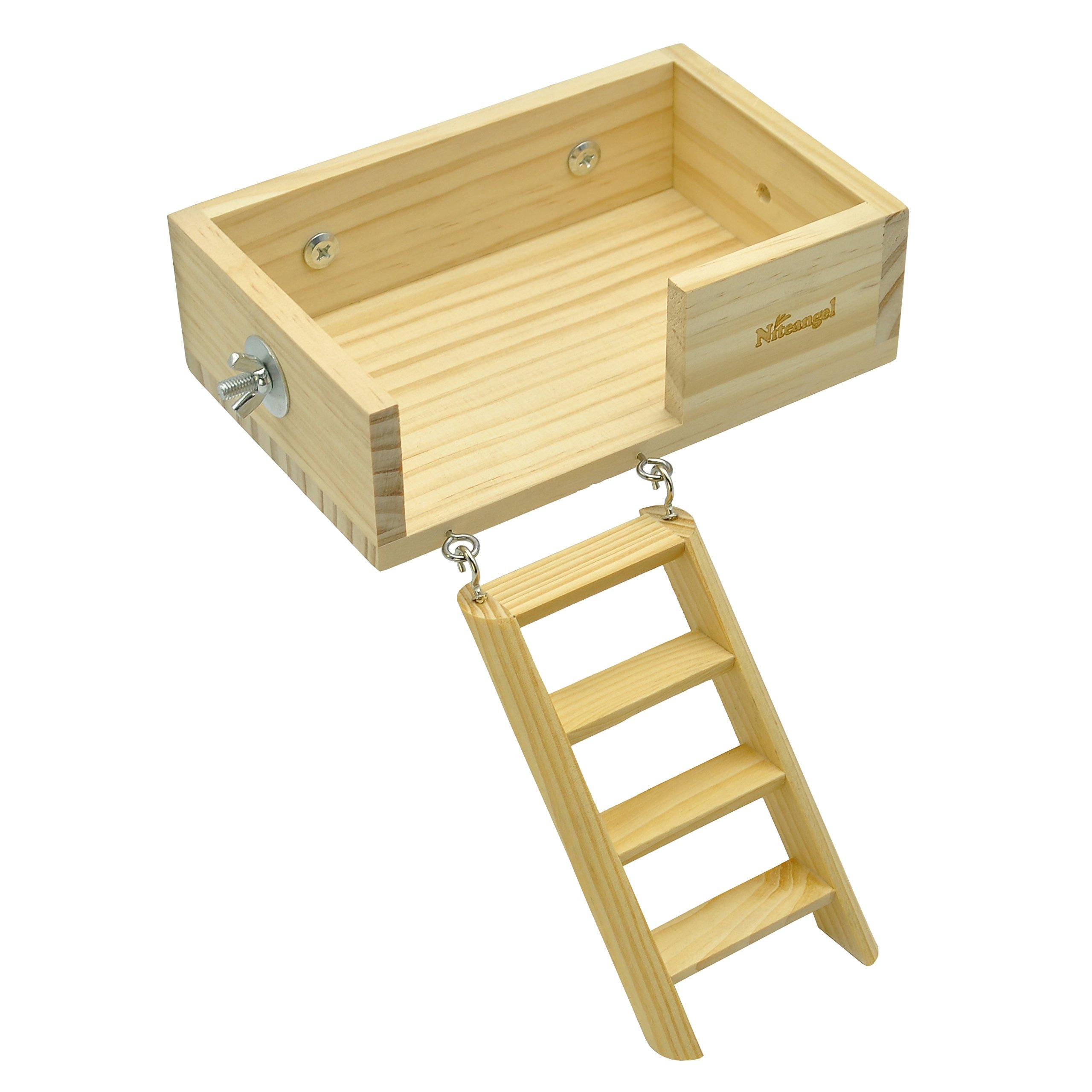 Niteangel Small Animal Wooden Platform, Climbing Kits by Niteangel
