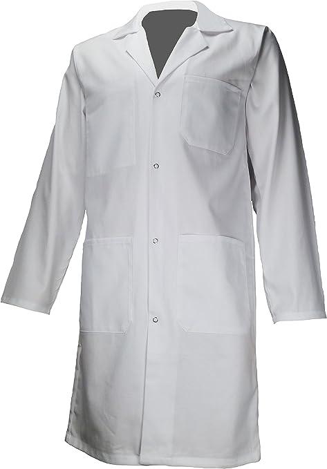 amawork PH ENFT bata blanca 100% algodón química laboratorio ...