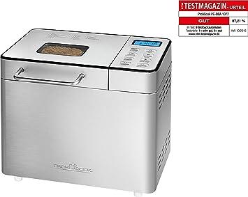 Ongebruikt Amazon.de: Profi Cook PC-BBA 1077 Brotbackautomat, Edelstahl, Silber JP-85