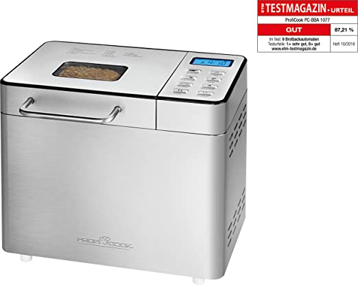 Profi Cook Brotbackautomat PC-BBA 1077 acero fino: Amazon.es ...