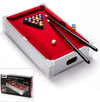 Marvelous Deluxe Branded Kids Children Mini Tabletop Pool Table Games Sports Snooker  Toy Red Carpet Best On