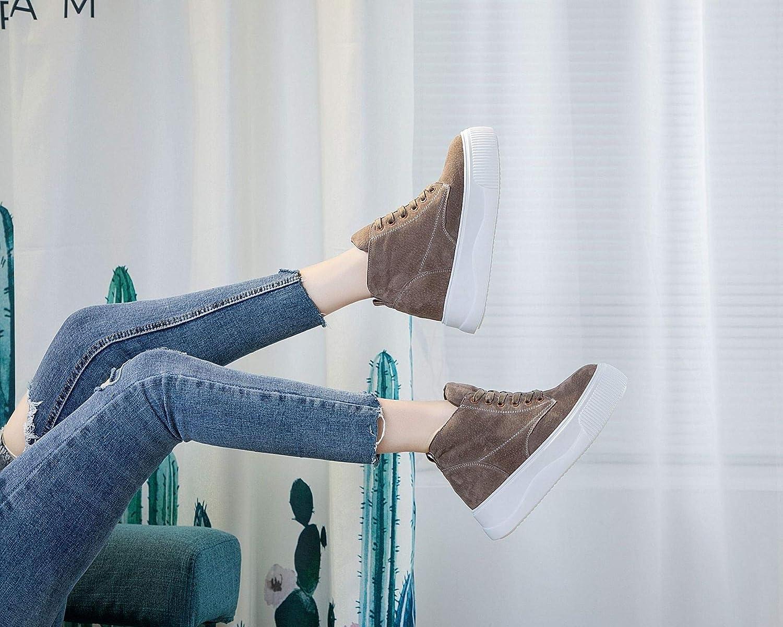 KPHY Damenschuhe Frauen In Verstärken Schuhe Schuhe Verstärken Leder-Boden Martin Stiefel Freizeit Schwarz 36 a49de2