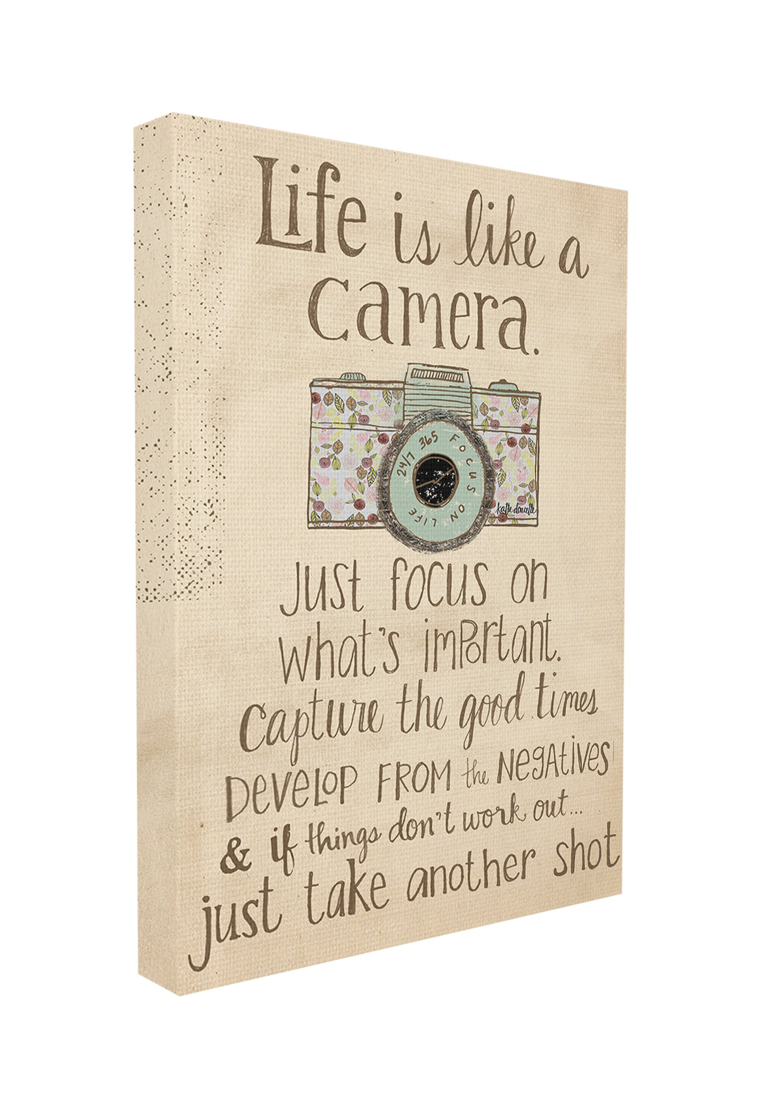 Stupell Home Décor Life Is Like A Camera Inspirational Art Wall Plaque, 16 x 1.5 x 20, Proudly Made in USA