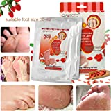 Foot Peel Mask - LuckyFine Wolfberry Repairing Feet Mask, Deep Exfoliation for Dry Dead Skin, Dry Skin Foot Treatment,Make Your Feet Irresistible (2 Pairs per Box)
