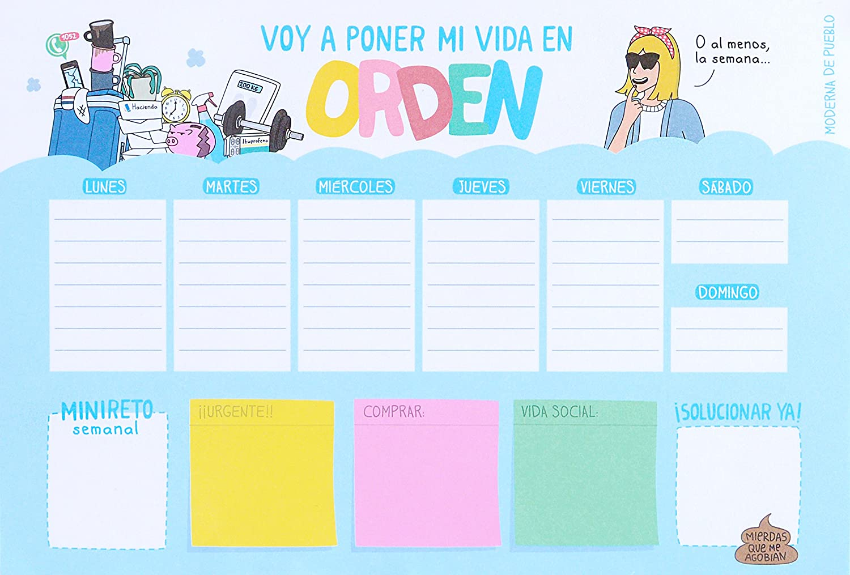 Moderna De Pueblo MDP0742832485081 - Planificador semanal Voy A Poner Mi Vida En Orden