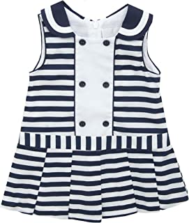 Rare Editions Baby-Girls Striped Woven Dress Casual Dress