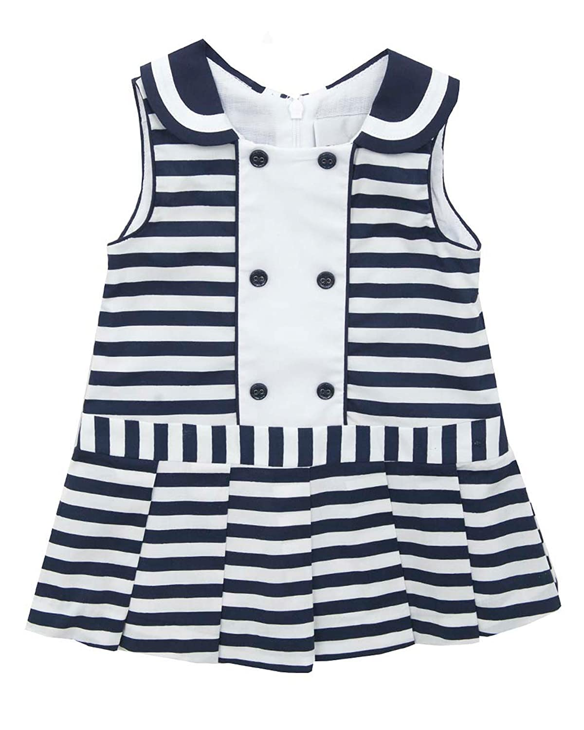 Rare Editions Baby Girls Striped Woven Dress