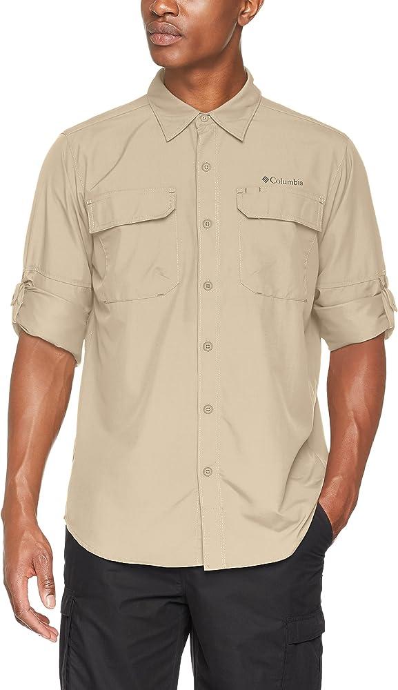 Columbia Camisa de Excursionismo de Manga Larga para Hombre, Silver Ridge II Long Sleeve Shirt, Beige (Fossil), XS: Amazon.es: Ropa y accesorios