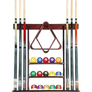 Iszy Billiards 6 Stick Wall Rack