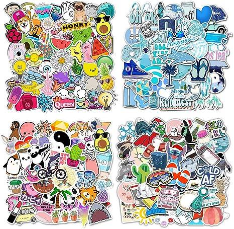 Firtink 200 Stücke Aufkleber Wasserdicht Vinyl Stickers Graffiti Style Decals Für Wasserflaschen Skateboard Gepäck Motorrad Iphone Diy Party Supplie Küche Haushalt