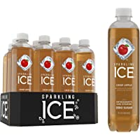 Sparkling Ice, Crisp Apple Sparkling Water, with antioxidants and vitamins, Zero Sugar, 17 FL OZ Bottles (Pack of 12)