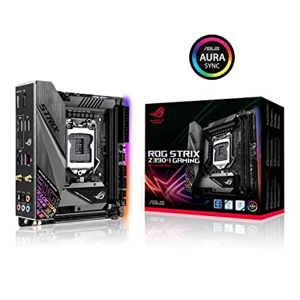 ASUS ROG Strix Z390-I Gaming LGA1151 (Intel 8th and 9th Gen) Mini ITX DDR4 DP HDMI M.2 USB 3.1 Gen2 Formato (mITX) Gaming Motherboard
