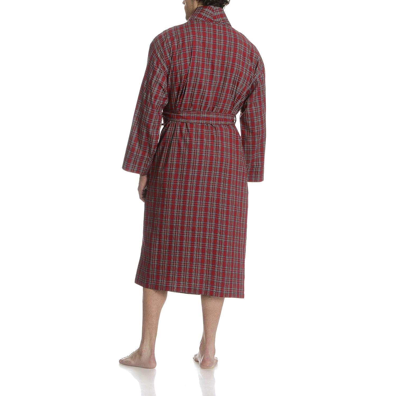 Hanes Mens Lightweight Woven Broadcloth Robe