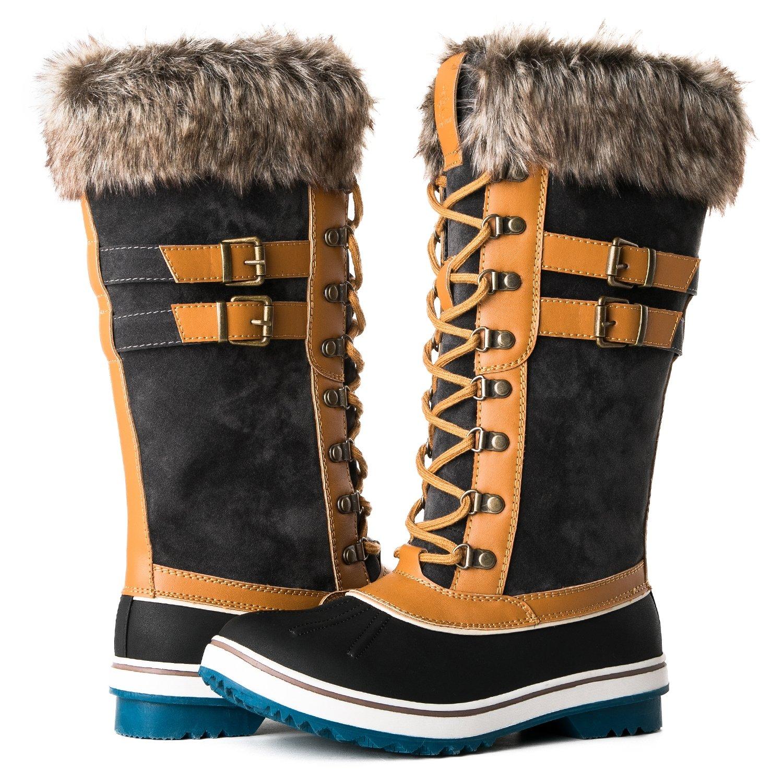 Global Win GLOBALWIN Women's 1730 Winter Snow Boots B075MMPXFC 6.5 B(M) US|1735wheat