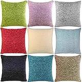 Ideal Textiles, Luxury Cushion Covers, Plain Chenille Cushion Cover, 18 x 18, 45cm x 45cm (Duck Egg) by Ideal Textiles