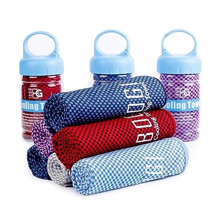 Bogi toalla fresca para una frescura instantánea 120 cm x 36 cm – suave filtro de