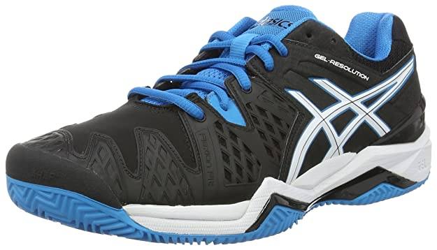 Asics Resolution 6 Clay Scarpe da Tennis Uomo Nero Black/Blue Jewel/White E