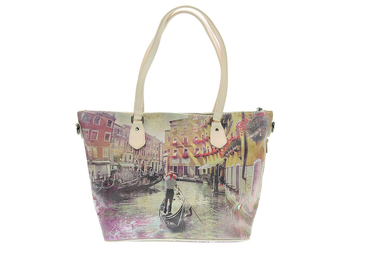 Y NOT? donna borsa shopping con tracolla H 396 PIL: Amazon