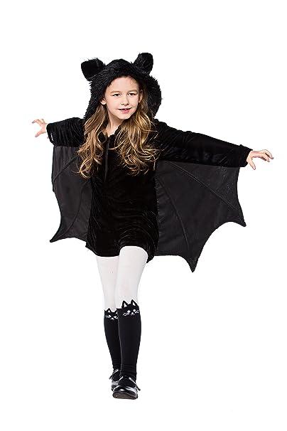 yolsun girls vampire bat costume halloween animal cute dress up 4 6y