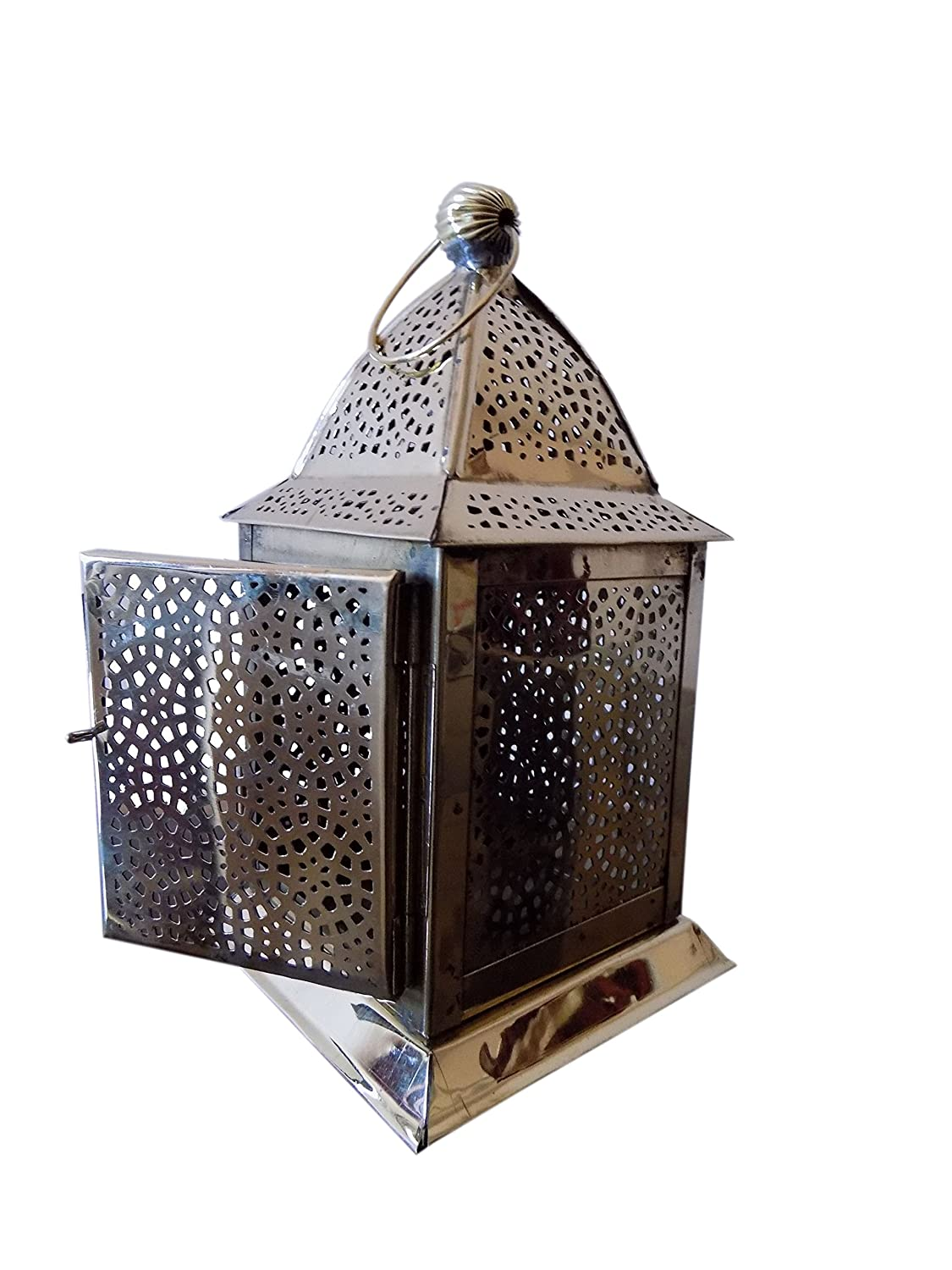 Antique Vinatge Look Brass Hanging Moroccan Votive Candle Lantern Home Garden ARES INDIA