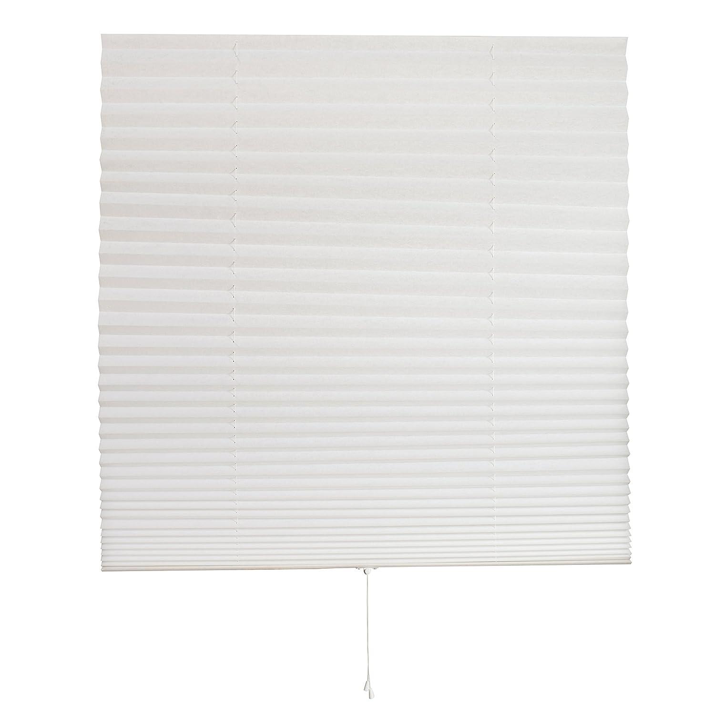Home Detailerz Customizable Pleated Fabric Window Shade, 36 X 72-Inch, White 634301988837