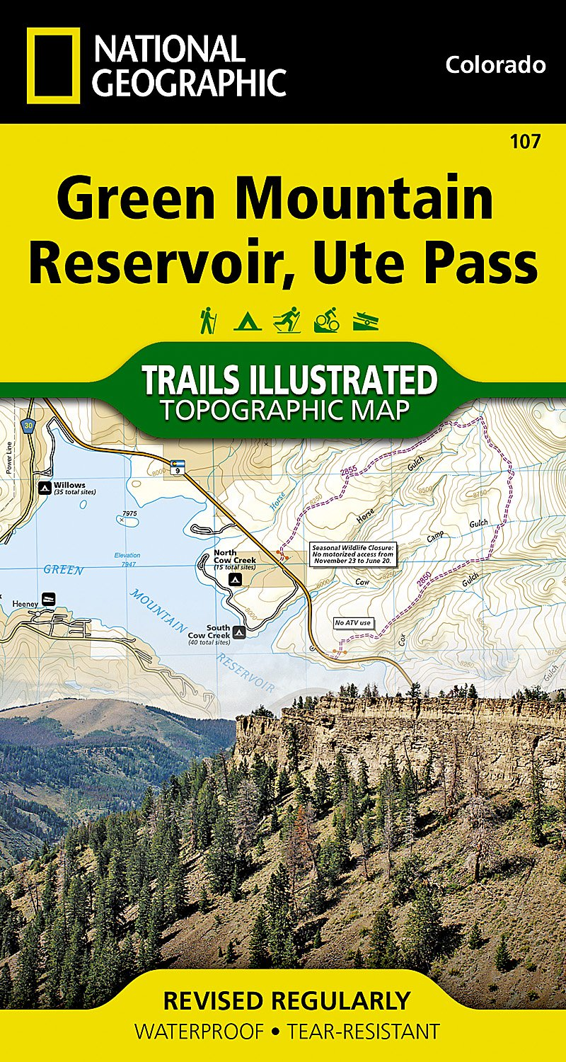 Green Mountain Reservoir, Ute Pass (National Geographic Trails Illustrated Map)