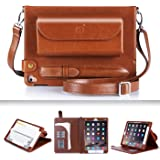 iPad Pro 9.7 Case, iPad Pro 9.7 Cover, Fyy Luxurious Genuine Leather Case All-Powerful Cover for Apple iPad Pro 9.7 inch (2016 Edition) Brown