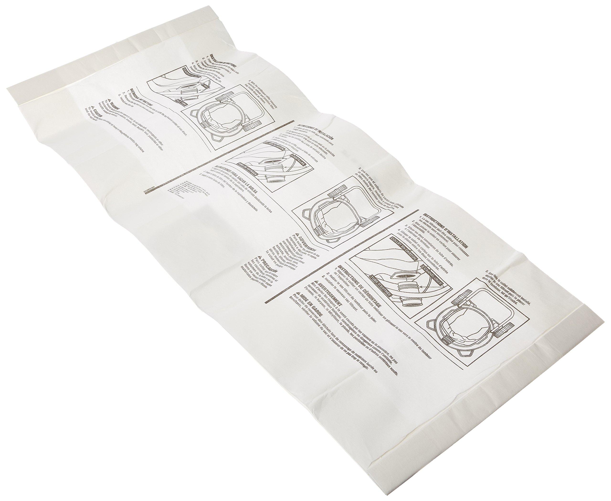 Ridgid VF3502 High Efficiency, Dry Pickup Dust Bags for 12 - 16 Gallon Ridgid Wet / Dry Vacuums (2 Pack) by Ridgid