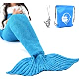 Amazon Price History for:LAGHCAT Mermaid Tail Blanket Crochet Mermaid Blanket for Adult/Kids, Soft All Seasons Sleeping Blankets, Classic Pattern