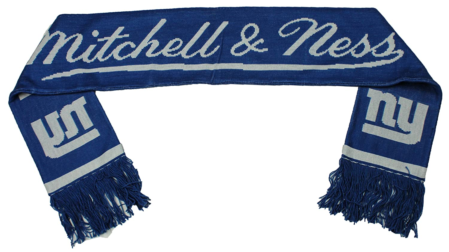 ef594237ce1c24 Amazon.com : New York Giants NFL Mitchell and Ness Scarf : Sports Fan  Scarves : Clothing