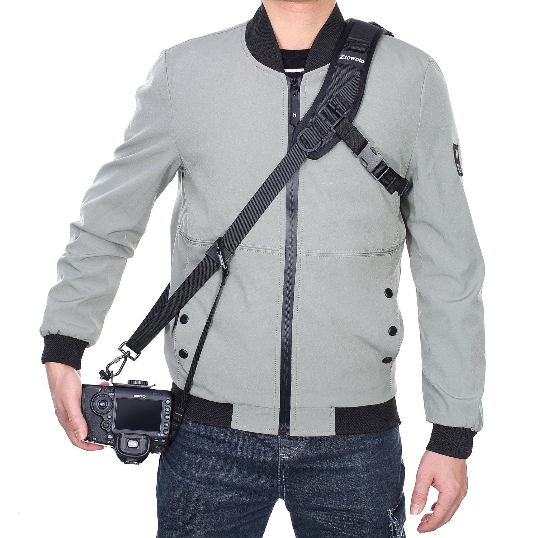 Ztowoto Camera Shoulder Neck Strap Quick Release Black Nylon Neoprene Digital Camera Strap Belt for Canon Nikon Sony DSLR SLR Mirrorless Camera