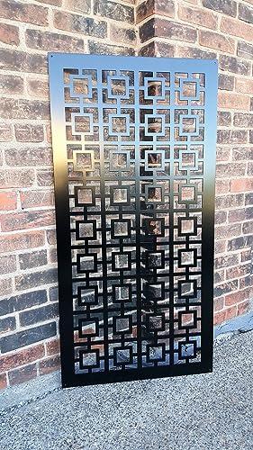 metal privacy screen inside privacy screen metal garden fence decor art square1us amazoncom