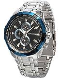 AMPM24 メンズ アナログ ステンレススチールバンド スポーツ クォーツ腕時計