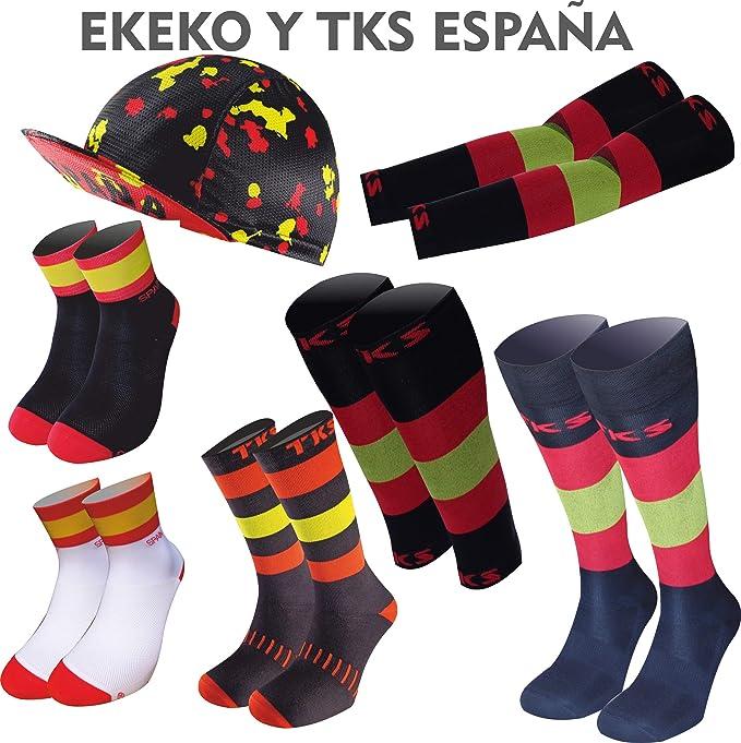 TKS ESPAÑA Perneras Modelo MONEGROS, para Running, Triatlon, Ciclismo, Senderismo, Crossfit, TRX