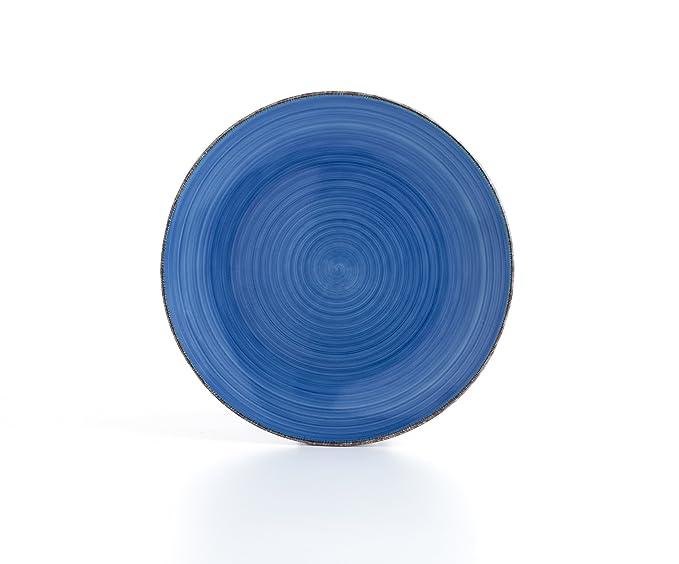 Quid Vita Vajilla de 18 Piezas, Cerámica, Azul