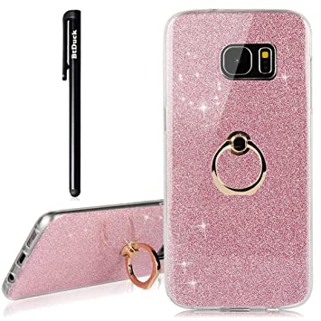 carcasa galaxy s7 edge purpurina