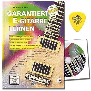 garantiza S Guitarra de aprendizaje de guitarra, escuela de Bernd brümmer con DVD y Dunlop