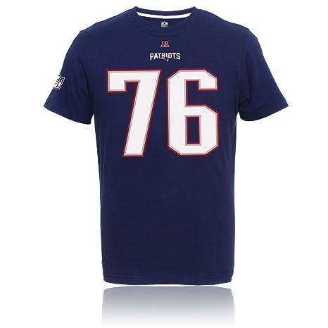 61ba89de17d83 NFL New England Patriots Player II Sebastian Vollmer   76 – Camiseta de  Majestic Color Azul