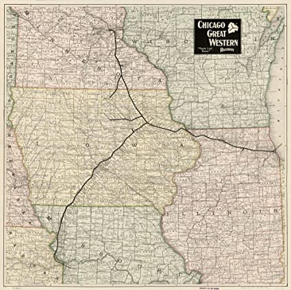 Amazon.com: Vintage 1897 Map of Chicago Great Western ... on united state network, united route nashville, united airlines,