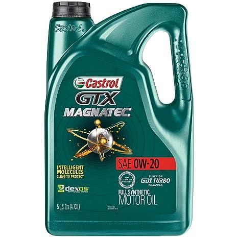 Amazon.com: Aceite de motor Castrol GTX MAGNATEC 0W-20 de 5 ...