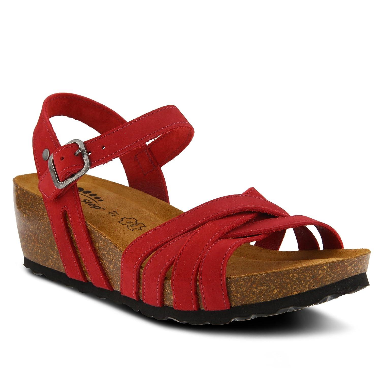 Spring Step Women's Style Eryn Leather Sandal B07BMH6Y9Z 42 EU M/ US 10.5-11 Red