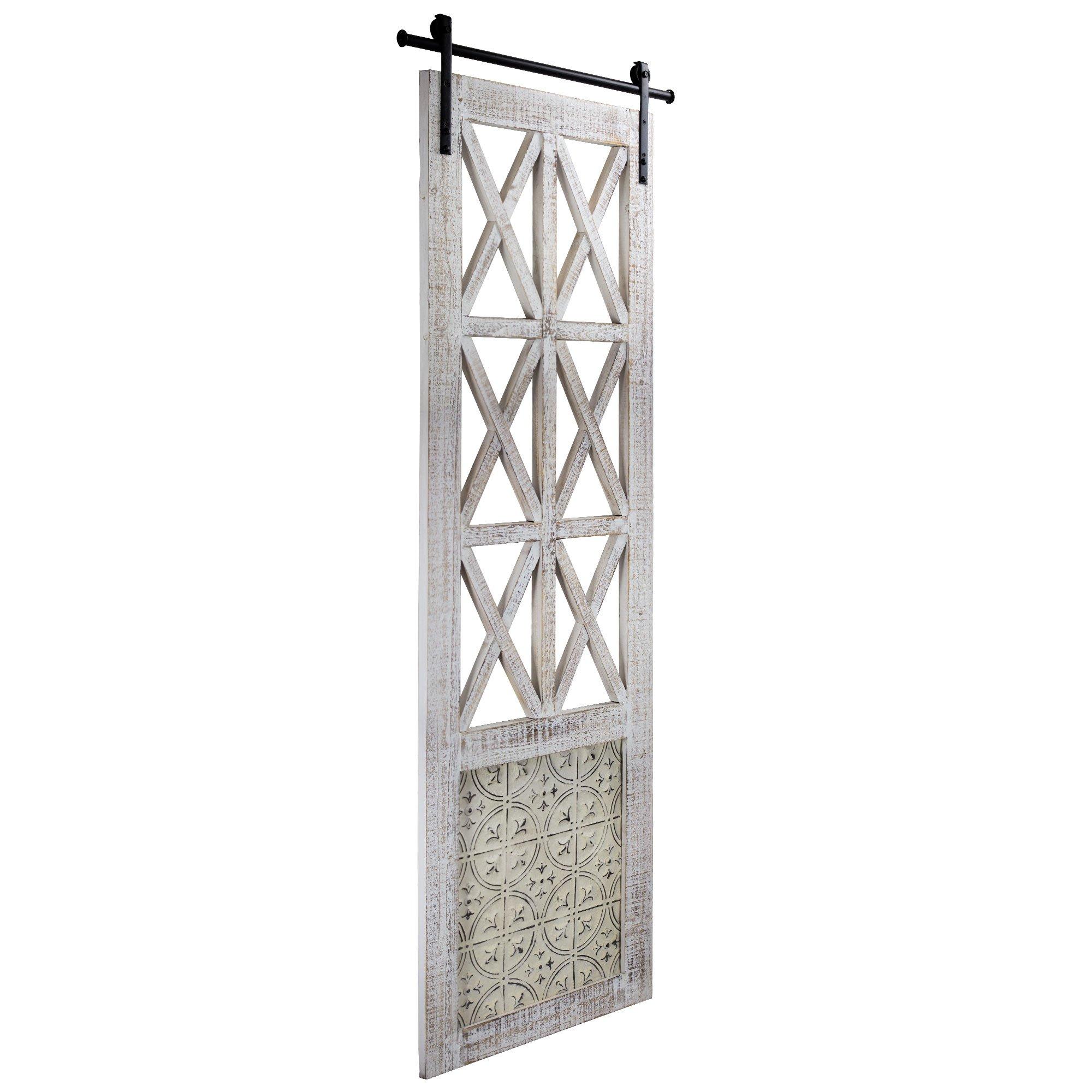 American Art Decor Whitewashed Wood Decorative Hanging Window Door Farmhouse Wall Decor
