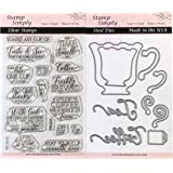 Stamp Simply Clear Stamps Coffee Cup or Tea Mug Steel Die Set Christian Religious (2-Pack) 4x6 Inch Sheets - 25 Pieces