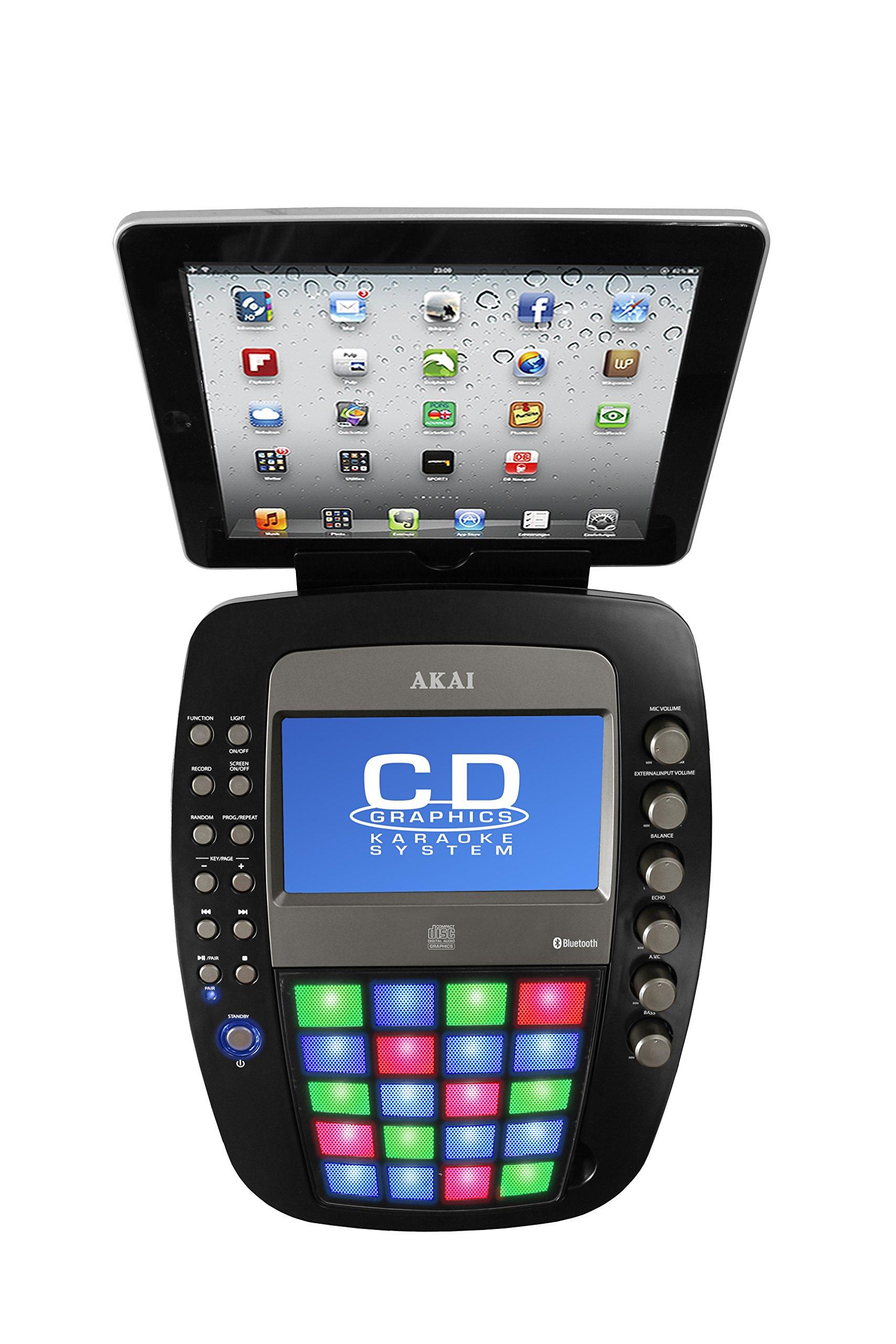 Akai KS878-BT Bluetooth Pedestal CD&G Karaoke System, Black by Akai (Image #3)