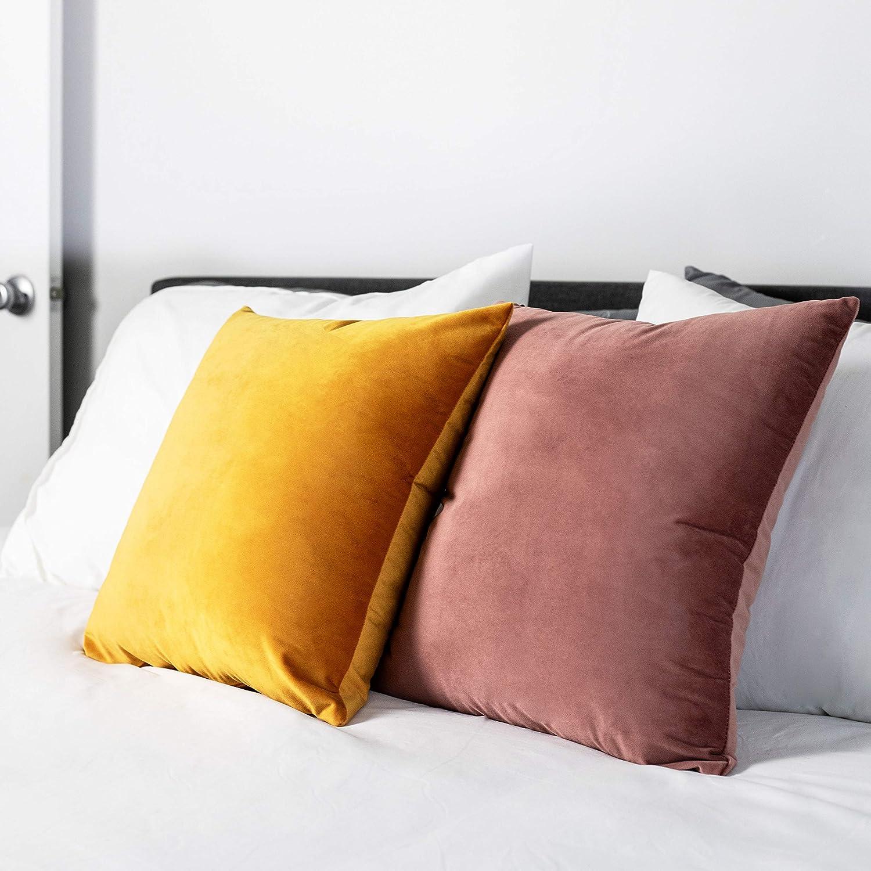 Amazon.com: Relleno de cojín liso: cojines cuadrados blancos ...