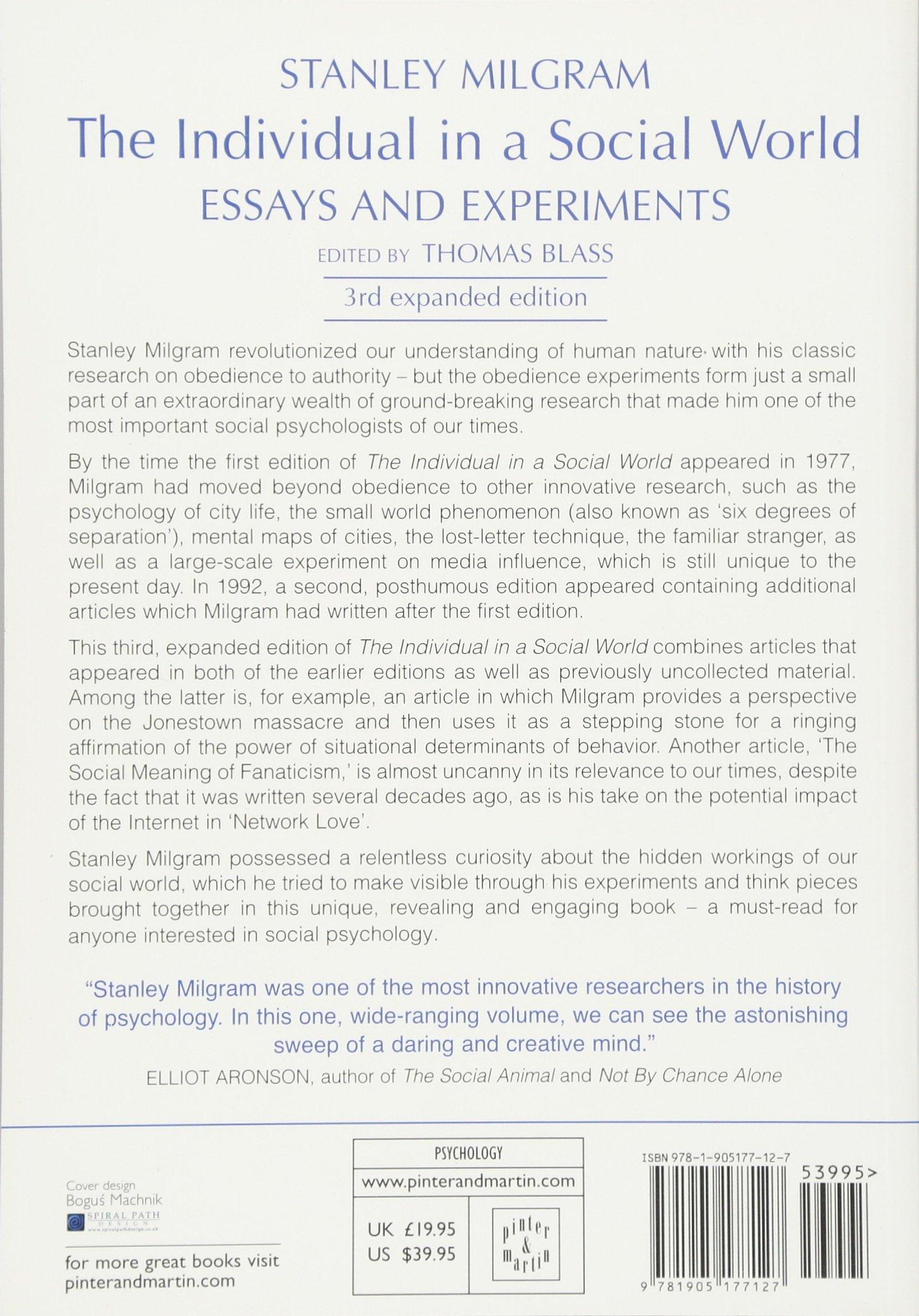 milgram experiment essay