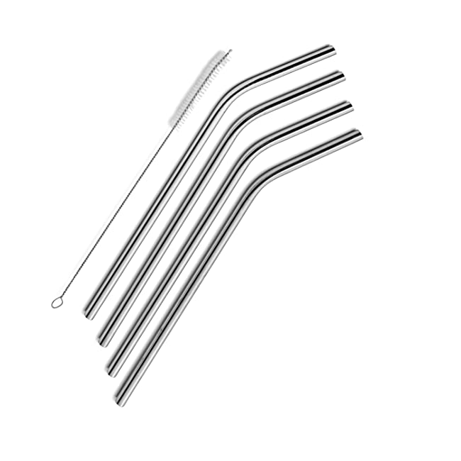 SipWell Stainless Steel Drinking Straws, Set o...