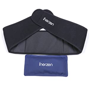 Inerzen Back and Waist Hot and Cold Gel Pad Therapy Wrap for Pain, Muscle, Stress Relief