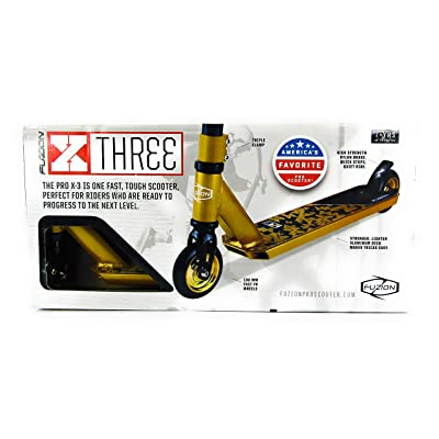 Fuzion Gold Pro X-3 2-Wheel Scooter: Toys & Games