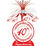 40th Anniversary Centerpiece Party Accessory (1 count) (1/Pkg)